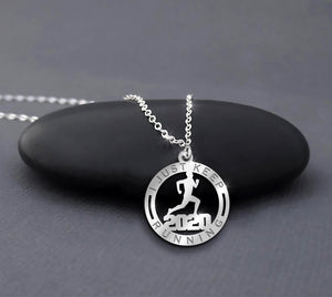 Running 2020 Necklace 925 Sterling Silver I Just Keep Running Best Gift For Runners