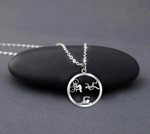 Running Swimming Riding - Triathlon Necklace