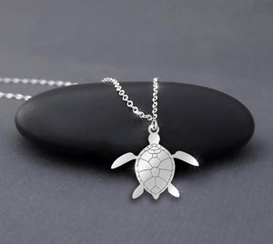 Skip the Straw - Save the Turtle 925 Sterling Silver Necklace