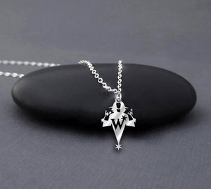 The Halloween Freak Witch Silver Necklace