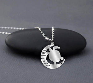 Turtle - I love you to the moon and back necklace