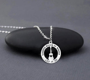 Whisper words of wisdom - let it be necklace 3
