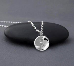 Ying Yang Cats Handcrafted Necklace Halloween