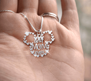 Best Mom  Handmade Sterling Silver Necklace