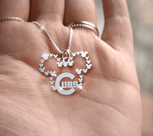 Chicago Cubs Handmade Sterling Silver Necklace