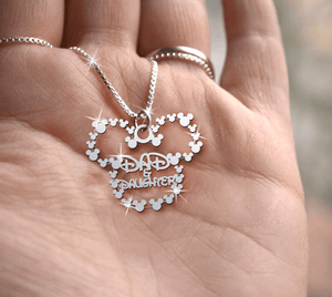 Dad & Daughter Handmade Sterling Silver Necklace