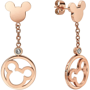 Mickey Mouse Disney Earings Rose Gold
