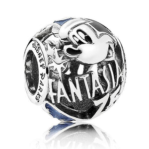 100% 925 Sterling Silver Sorcerer Fantasia 75th Anniversary Charm Beads