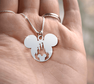 Mickey Castle 3 Handmade Sterling Silver Necklace
