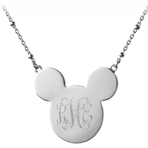 Mickey Mouse Monogram Necklace - Personalizable