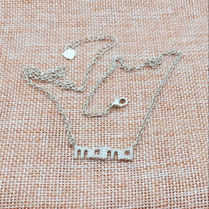 925 Sterling Silver Mama Pendant & Necklace