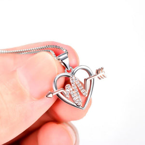 925 Sterling Silver Arrow Through Love Heartbeat Jewelry Nurse
