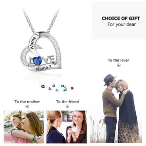 (Please note name) Personalized name 925 Sterling Silver Love Necklace