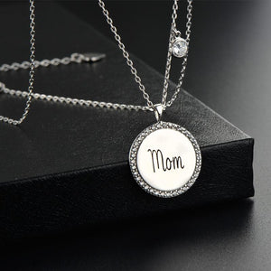 LOVE mom 925 Sterling Silver Necklaces & Pendants Chocker