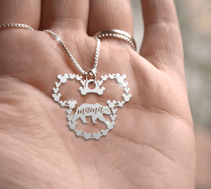Mama Handmade Sterling Silver Necklace