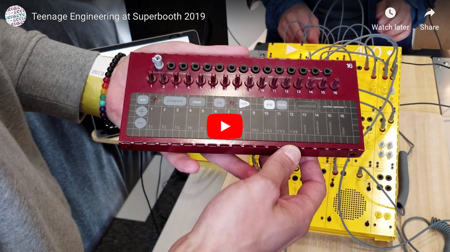 Teenage Engineering at Superbooth 2019