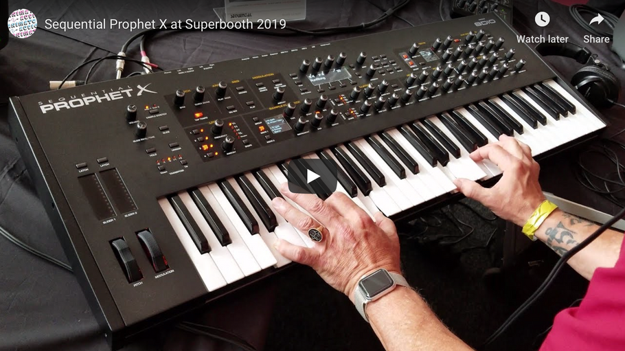 Sequential Prophet X at Superbooth 2019