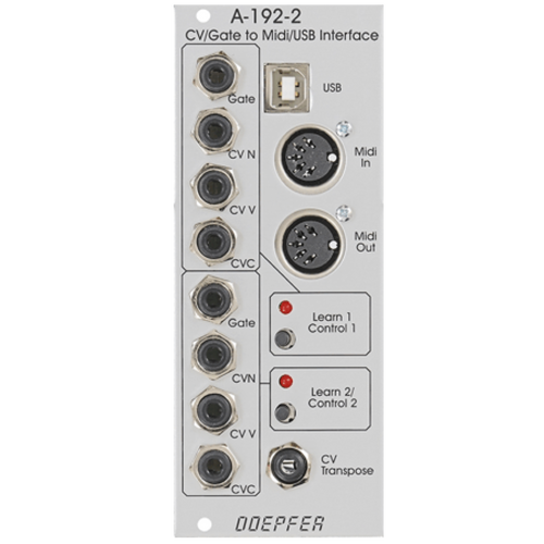 A-192-2 Dual CV/Gate to Midi/USB Interface