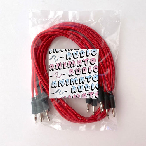 Animato Audio Braided Patch Cables (Set of 5 in red 60 cm)