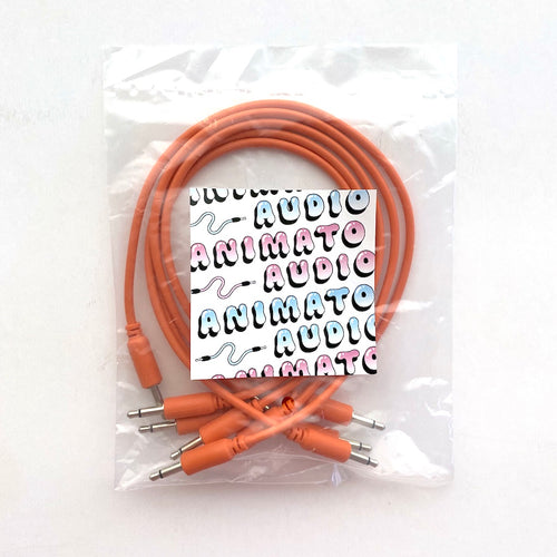 Animato Audio Patch Cables (Set of 5 in orange 30 cm)