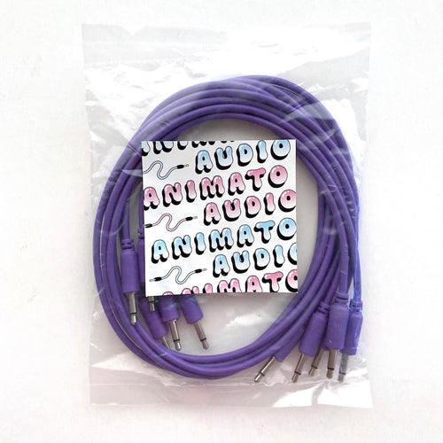 Animato Audio Patch Cables (Set of 5 in purple 60 cm)