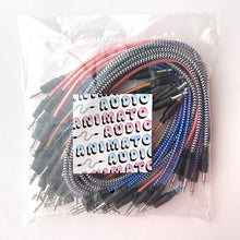 Animato Audio Braided Patch Cables (Set of 20 in bronze 10 cm, blue 30 cm, pink 30 cm, checkered 60 cm)
