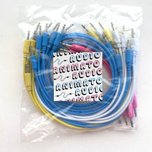 Animato Audio Patch Cables (Set of 20 in pink 10 cm, yellow 30 cm, white 30 cm, blue 60 cm)