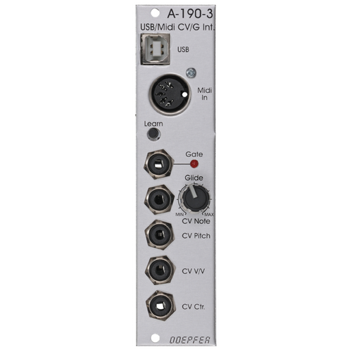 A-190-3 USB / MIDI-to-CV / Gate Interface