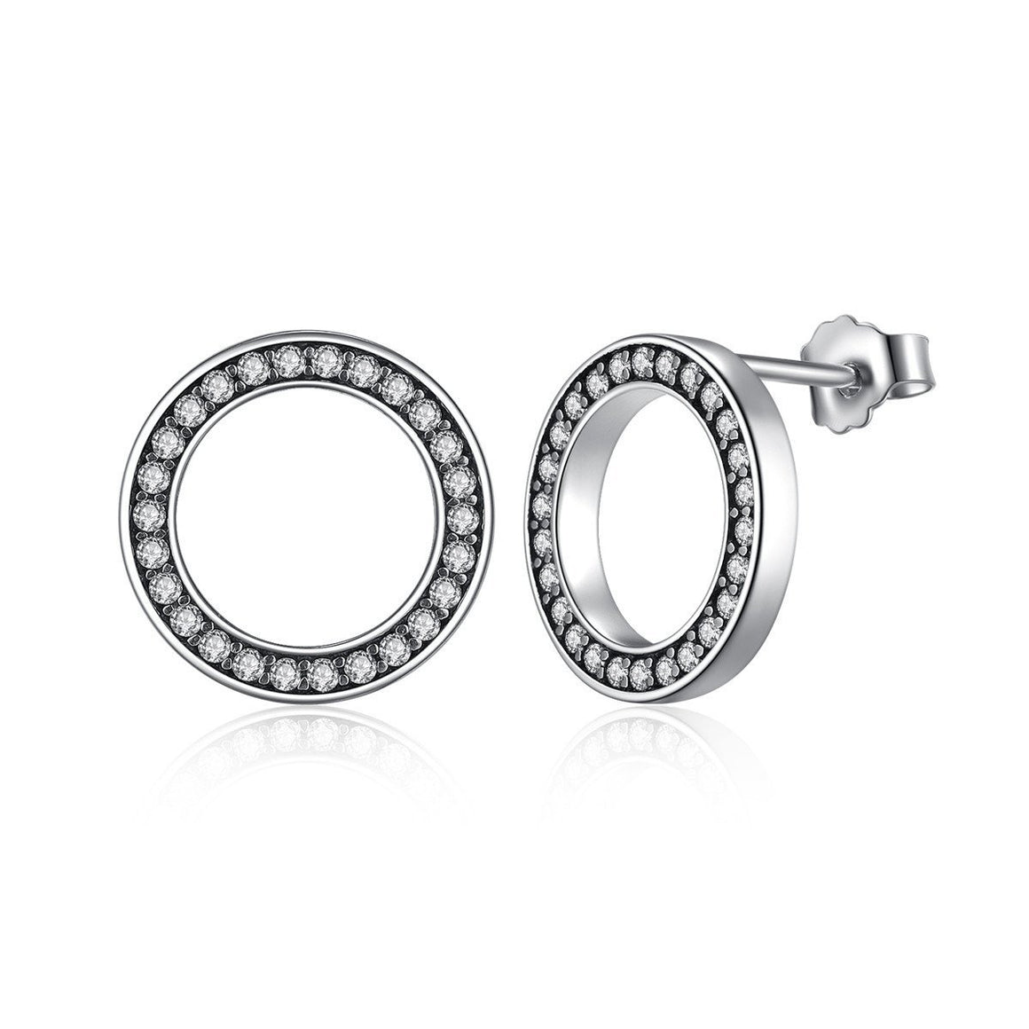 Forever Circle Round Stud Earrings
