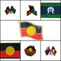 Aboriginal Flag Badges and Woven Patches