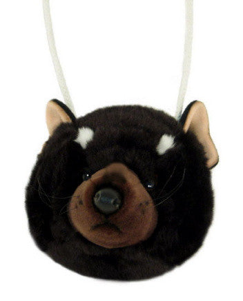 Tasmanian Devil Head Plush Toy Purse (20cm)