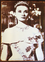Audrey Hepburn Roman Holiday Tin Sign (35cm x 26cm)