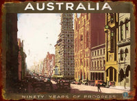 Australia 90 Years of Progress Tin Sign (35cm x 26cm)