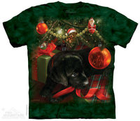 Puppy Reflections Xmas Childrens T-Shirt - Size Youth Medium