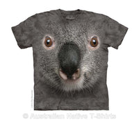Grey Koala Face Childrens T-Shirt