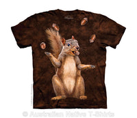 Nut Juggler Squirrel Childrens T-Shirt - Size Youth Medium