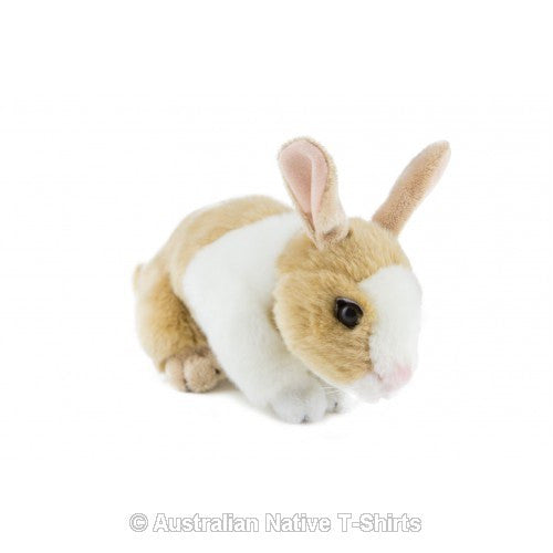 Brown & White Bunny Rabbit Soft Plush Toy (25cm)