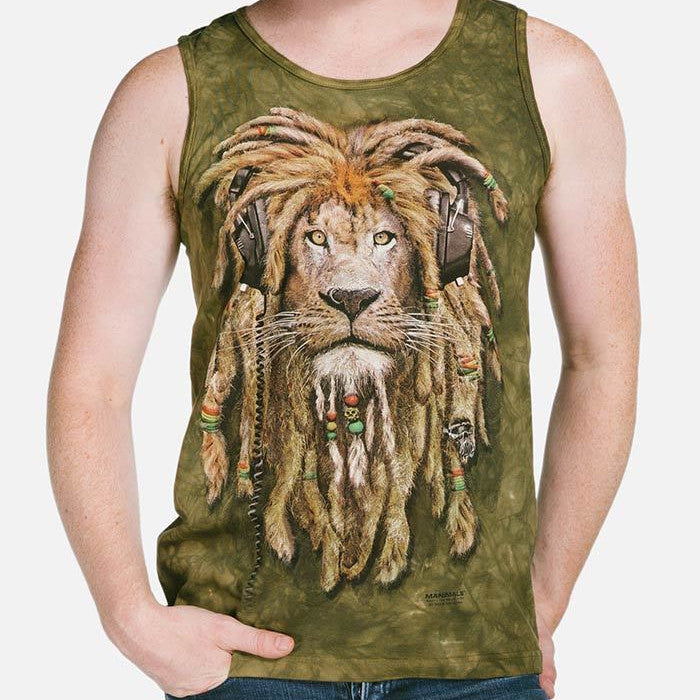 DJ Jahman Lion Adults Singlet