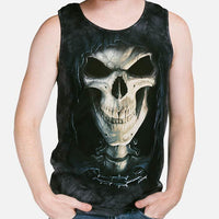 Death Face Grim Reaper Adults Singlet