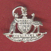 Australian Coat of Arms Silver Charm