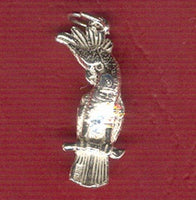 Cockatoo Bird Silver Charm