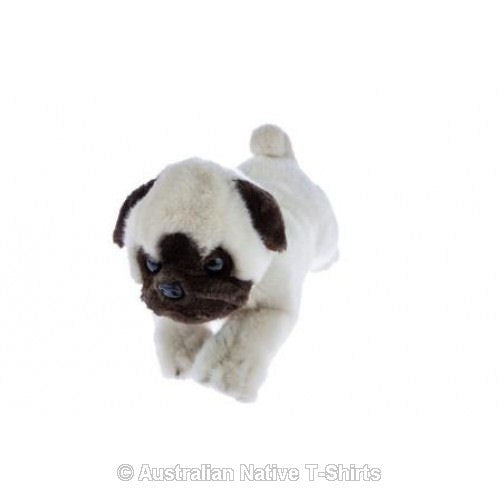 Pug Dog Puppy Soft Plush Toy in Laying Pose (26cm)