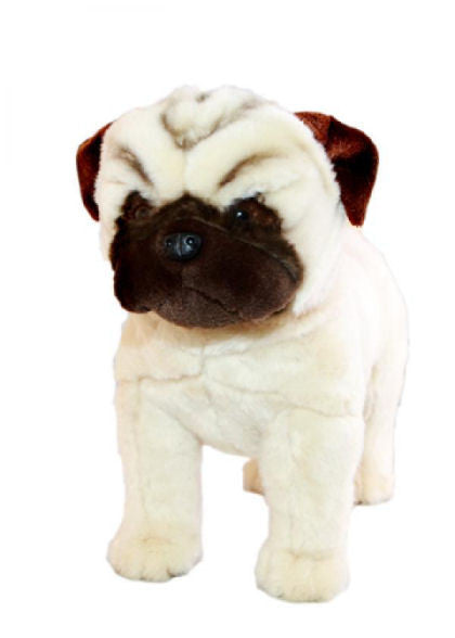 Pug Dog Soft Plush Toy (Standing 30cm Tall)