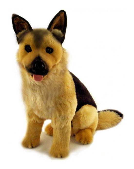 Large German Shepherd Dog Soft Plush Toy 45cm Dog Breed Toys