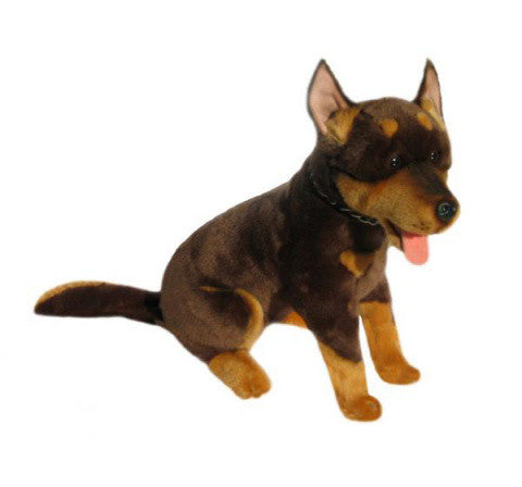 Kelpie Dog Soft Plush Toy in Sitting Pose (45cm)