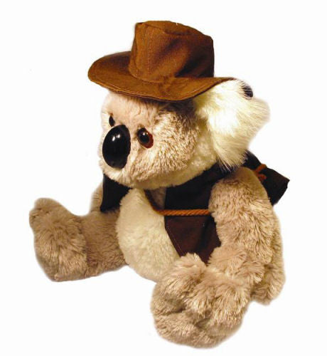 Koala Swagman With Hat Soft Plush Toy (23cm)