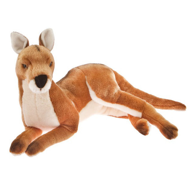Laying Red Kangaroo Soft Plush Toy (55cm)