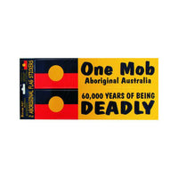 Aboriginal Flag One Mob & Deadly Design Stickers