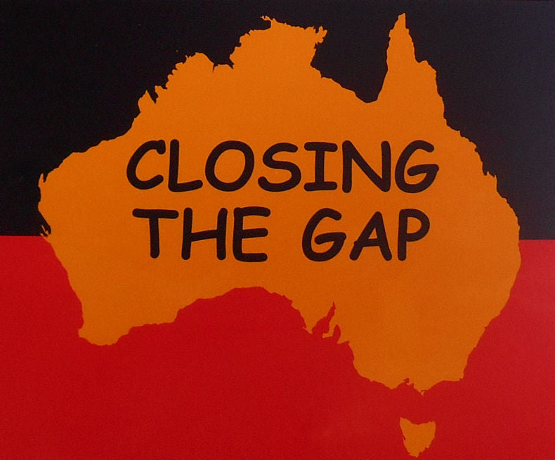 Aboriginal Flag Closing The Gap Sticker