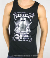 Ned Kelly Dead or Alive Mens Singlet